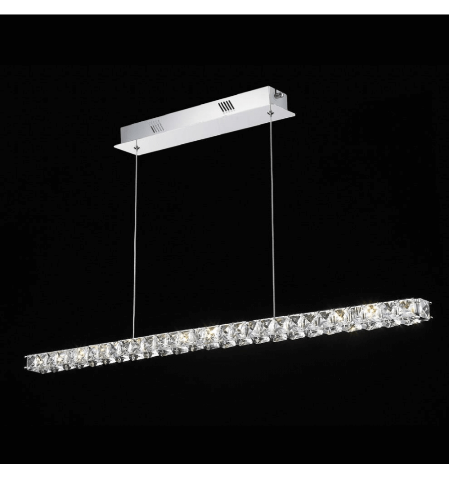 lmpara de techo cristal led horizontal bar kirn