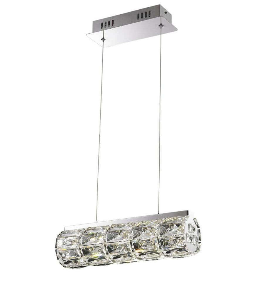 lmpara de techo led cristal cilndrico bar kuna