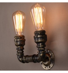 Doble aplique industrial vintage - Lumi