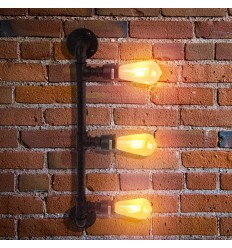 Aplique de pared largo 3 luces 64 cm - Jupiter
