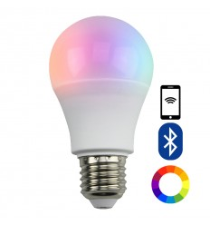 Color ajustable bombilla LED E27 con control remoto bluetooth