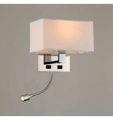 Aplique/Reading LED lamp metal/paño (E27+LED) - Collection Adonis