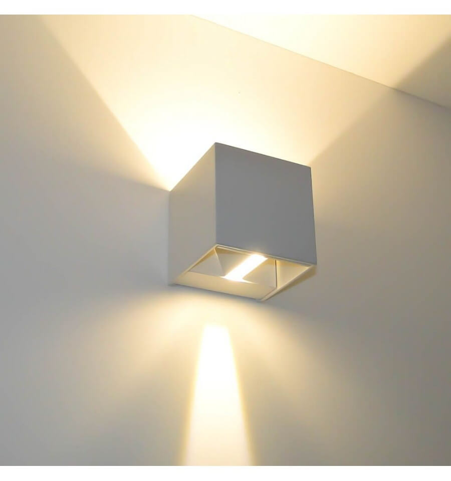 Aplique LED - de diseño color blanco - Cubic