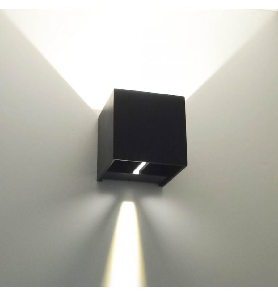 Aplique LED - de diseño color negro - Cubic