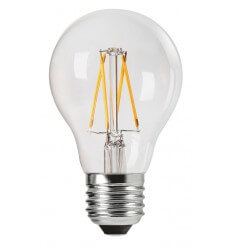 Bombilla incandescente LED estandar E27 25000H 4W 2700K