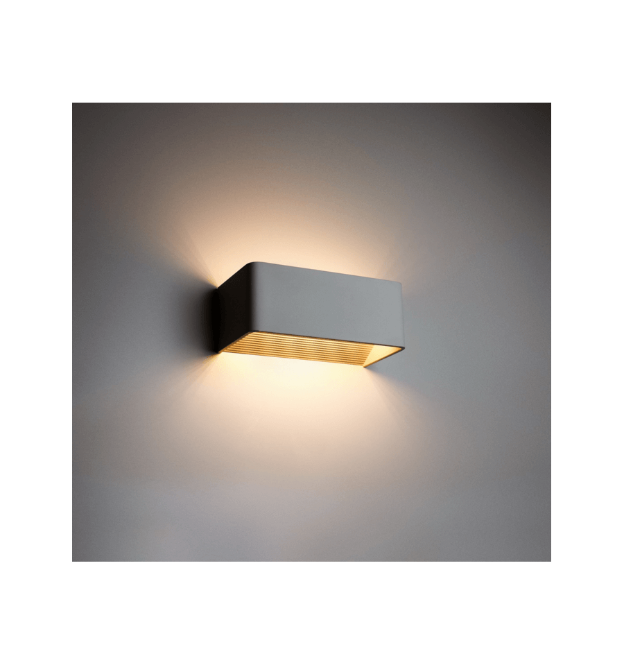 Aplique LED - rectángular 6W 20cm - Quadra