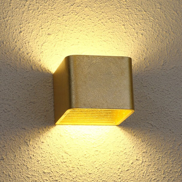 LED 6W Oro Aplique Quadra - 10 cm