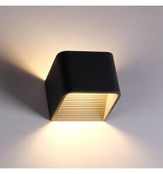 LED 6W Negro Aplique Quadra - 10 cm