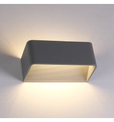 LED 6W Gris Aplique Quadra - 20 cm