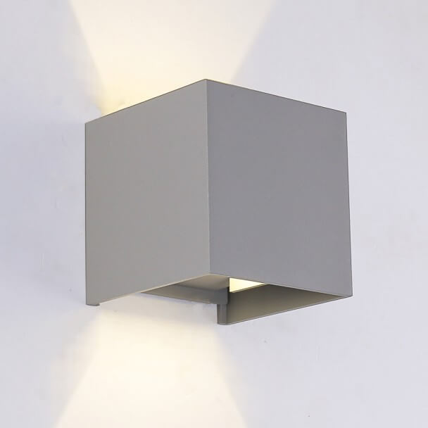 Led Gris Aplique Cubic design - 10 cm