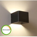 LED compatible con dimmer Luz de pared negra - Quadra