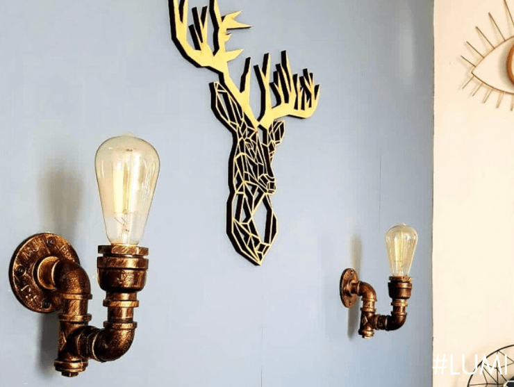 Aplique de pared industrial vintage - Lumi