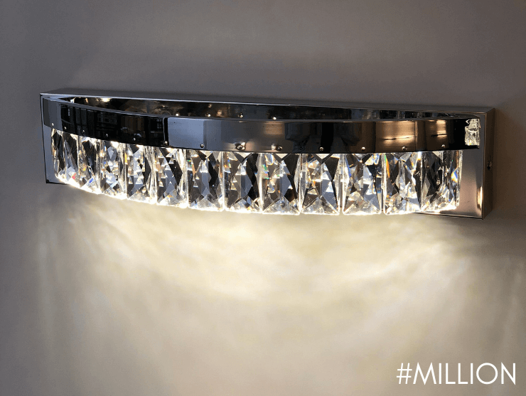 Aplique de pared de cristal chic - Million