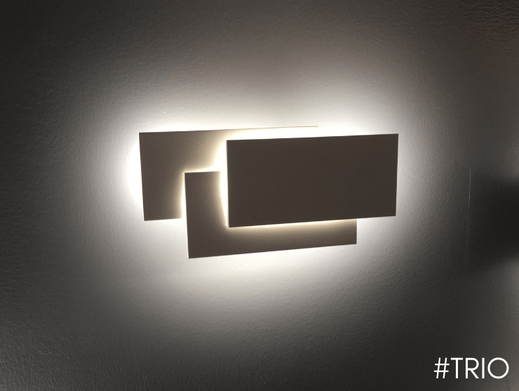 Aplique moderno LED blanco tripartito -Trio